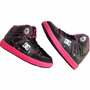 DC Toddler Girls' Pure High Top Skate Shoes Black